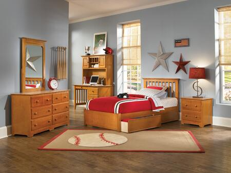 Atlantic Furniture SMISSIONFPFTWINCL Mission Series  Twin Size Bed