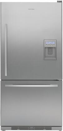 Fisher Paykel RF175WCRUX1 Active Smart Series Counter Depth Bottom Freezer Refrigerator with 17.5 cu. ft. Total Capacity 5.1 cu. ft. Freezer Capacity 2 Glass Shelves