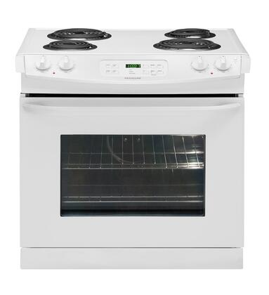 "Frigidaire FFED3015LW 30"" Slide-in Electric Range with Coil Cooktop 4.2 cu. ft. Primary Oven Capacity"