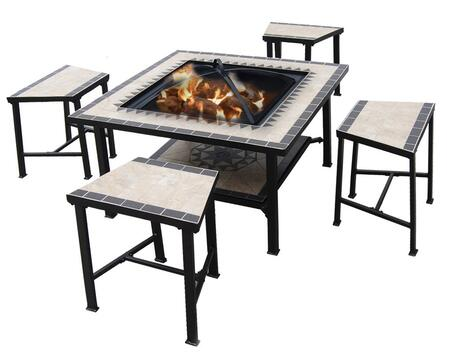 Deeco DM-3537-ST Square Shape Patio Sets