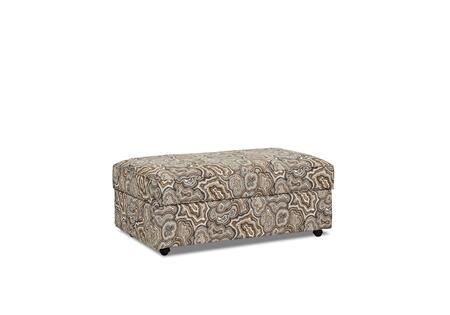 "Klaussner Stella Collection K95000-STOTC- 47"" Storage Ottoman with Casters, 2 Arm Pillows and Fabric Upholstery in"