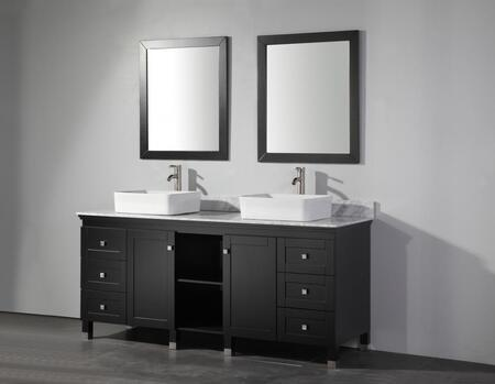 MTD MTDWA6472 Belarus 72 Double Sink Bathroom Vanity Set