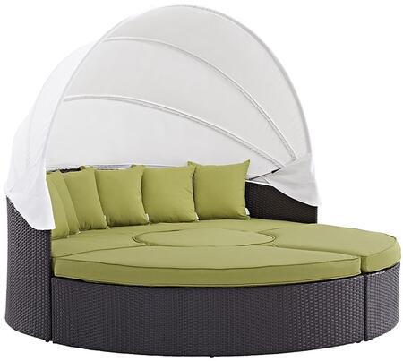 "Modway EEI2173EXPPERSET 86.5"" Water Resistant Canopy Outdoor Bed"