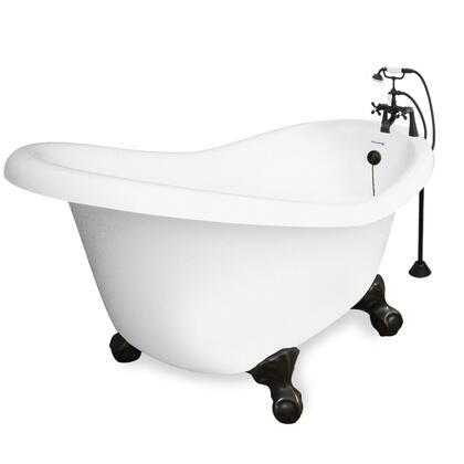 American Bath Factory T020B- Marilyn Bathtub Faucet Package 1, With 90 Series Faucet, Hand Shower & Metal Cross Handles: