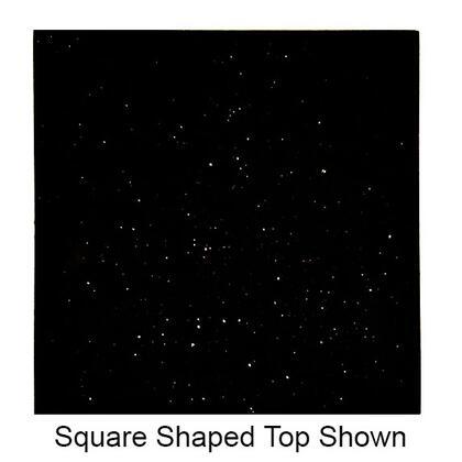 Art Marble Furniture G206RECTOP X Size Rectangular Natural Granite Tabletop in Black Galaxy