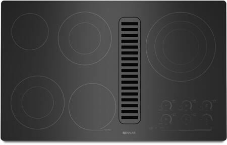 "Jenn-Air JED4536W 36"" Electric Radiant Downdraft Cooktop with Electronic Touch Control, 5 Radiant Elements, 7 Inch Keep Warm Function, and Hot Surface Indicator Light, in"