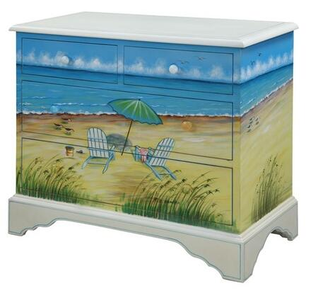 Gail's Accents 40010CH Shoreline Series Wood Chest