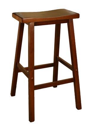 American Heritage 124802WA Wood Saddle Series Residential Not Upholstered Bar Stool