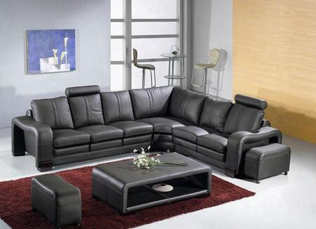 VIG Furniture VGEV3330  Sofa and Chaise Leather Sofa