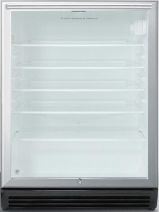 "Summit SCR600BLPUBBIHHADA 24"" 5.5 cu. ft. Beverage Center, in Aluminum"