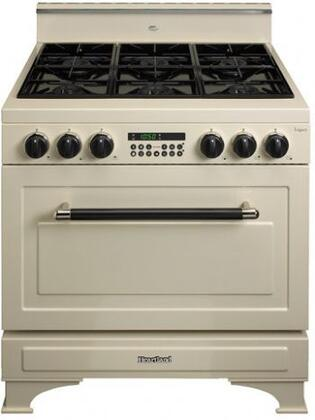 Heartland 363013LP  Dual Fuel Freestanding Range with Sealed Burner Cooktop, 5.9 cu. ft. Primary Oven Capacity, in Desert Sand