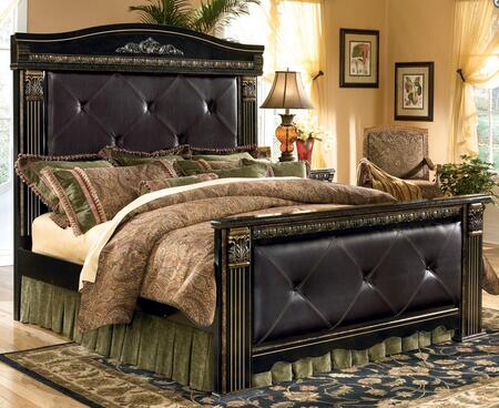 Signature Design by Ashley B17556586299 Coal Creek Series  King Size Mansion Bed