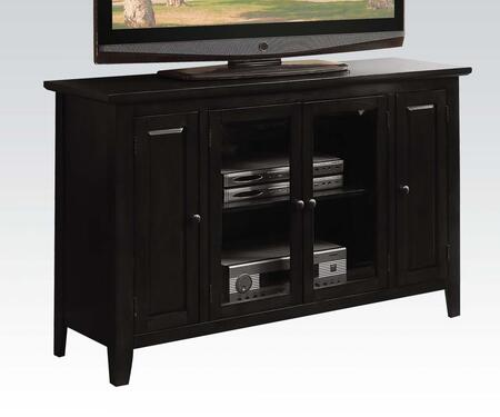 "Acme Furniture Vida 52"" TV Stand with 4 Doors, Adjustable Shelves, Tapered Legs and Metal Hardware in"