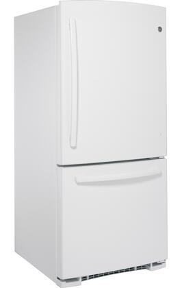 Ge Gbs20eghww 30 Inch White Bottom Freezer Refrigerator