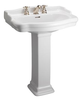Barclay 3848WH White Bath Sink