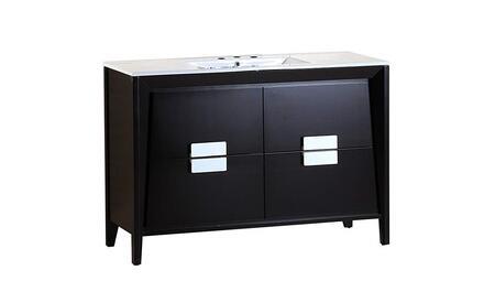 Bellaterra Home 500410ESWHS Single Sink Vanity in Dark Espresso Finish with Marble Top