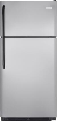 Frigidaire FFHT1826LM Freestanding Top Freezer Refrigerator with 18.2 cu. ft. Total Capacity 2 Glass Shelves 4.07 cu. ft. Freezer Capacity