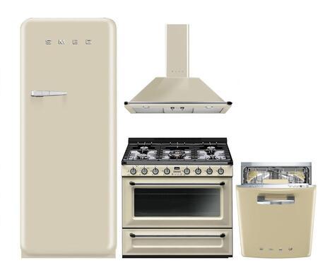 Super Smeg 974732 4 Piece Cream Kitchen Appliances Package Interior Design Ideas Philsoteloinfo