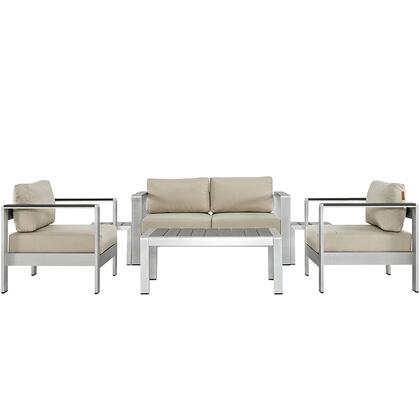 Modway EEI2568SLVBEI Modern Patio Sets
