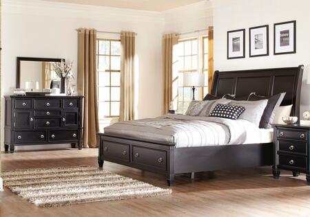 Milo Italia BR764KSBDM Martinez King Bedroom Sets