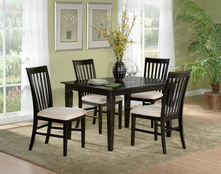 """Atlantic Furniture DECO5454BTDT Deco Series 54x54 Butterfly Top Dining Table (Include 18"""" Leaf):"""