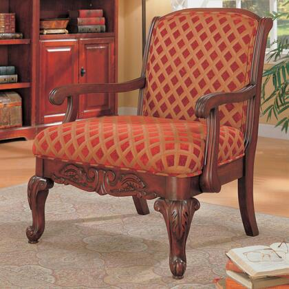 Coaster 900222 Club Fabric Wood Frame Accent Chair
