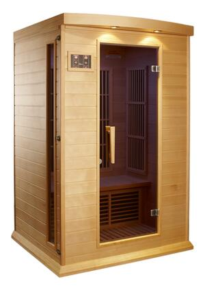 """Maxxus MX-K206-01 75"""" Low EMF Far Infrared Sauna with 2 Person Capacity, 6 Carbon Heating Elements, Chromotherapy Lighting, LED Control Panels, SD and USB Connection"""