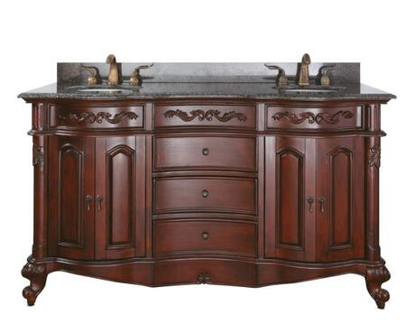 "Avanity PROVENCE-VX-AC Provence Collection X"" Vanity Only, with Soft Close Doors, Soft Close Drawers, and Antique Brass Finished Hardware, in Antique Cherry Finish"