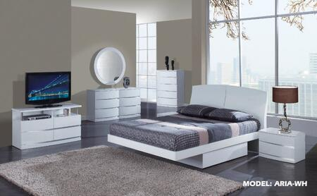 Global Furniture USA ARIAWHFBG Aria Series 6 Piece Bedroom Set