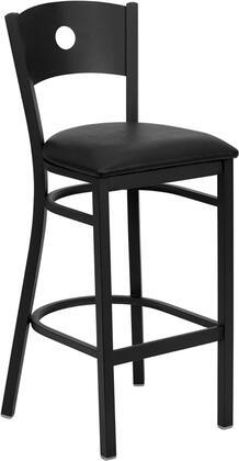 "Flash Furniture HERCULES Series XU-DG-60120-CIR-BAR-XXV-GG 31"" Heavy Duty Circle Back Metal Restaurant Bar Stool with Vinyl Seat, Commercial Design,  Foot Rest Rung, and 18 Gauge Steel Frame"