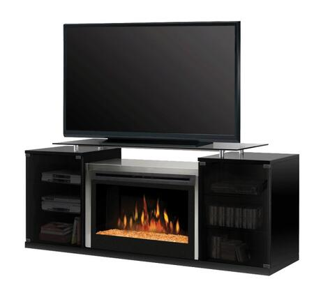 "Dimplex SGFP-500- Marana Series Media Console with Floating Glass Top Which Supports up to a 60"" Flat Screen TV, Fireplace with Glass Ember Bed:"