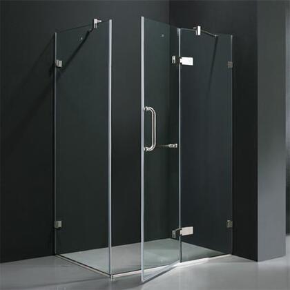 """Vigo VG6011TTCL36 36"""" x 48"""" Frameless 3/8"""" Shower Enclosure:"""