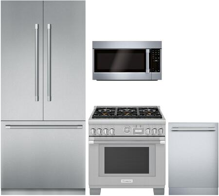 Thermador 1073474 4 Piece Panel Ready Wi Fi Connected Kitchen Liances Package