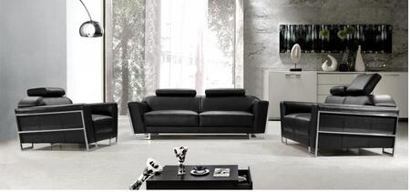VIG Furniture VG2T0658B Modern Leather Match Living Room Set