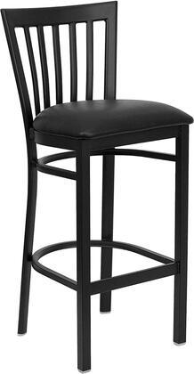 Flash Furniture XUDG6R8BSCHBARBLKVGG Hercules Series Vinyl Upholstered Bar Stool