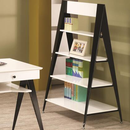 Coaster 801063Lori Series Wood/Metal 4 Shelves Bookcase