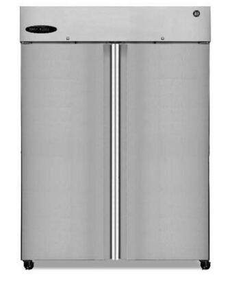 "Hoshizaki Commercial Series CR2B-XX 55"" 51 cu. ft. Refrigerator, Reach-in, Two-Section, Digital Controller, LED Display, Ducted Air Display System, and Energy Star Qualified in Stainless Steel"