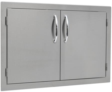 Sole SO2AD Built In  Stainless Steel Double Access Door with Flat Frame