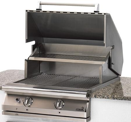 "PGS S27 PGS Legacy 30"" Newport Grill Head with Stainless Steel Rock Grates, Stainless Steel Rock Grates, and Ceramic Rocks"