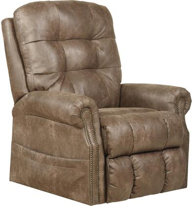 """Catnapper Ramsey Collection 37"""" Lay Flat Recliner with Power Lift, Senate Heat and Massage, Comfort Coil Seating and Printed Padded Faux Leather Fabric Upholstery"""