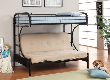 Furniture of America Rainbow Collection Twin Size Bunk Bed with Attached Ladder, Improved Rail Reinforcement, Non-Recycled Heavy Gauge Tubing and Metal Construction