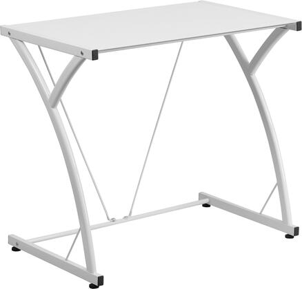 Flash Furniture NANWKSD02WHGG Contemporary Standard Office Desk