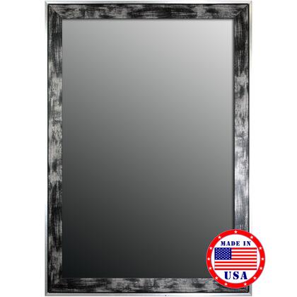 Hitchcock Butterfield 80510X 2nd Look Scratched Wash Black & Silver Trim Framed Wall Mirror