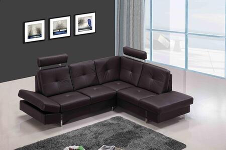 VIG Furniture VGCA973 Divani Casa Series Sofa and Chaise Leather Sofa