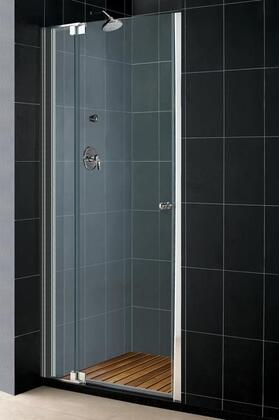 DreamLine SHDR-423X728-01 Allure Pivot Shower Door With Reversible For Right Or Left Door Opening, 1 Out-Of-Plumb Adjustment In Wall Profile, 6 Width Adjustment In Pivot Hardware & In Chrome Finish