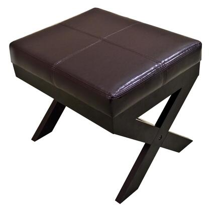 Corner II LTD P1050X Modern Bonded Leather Ottoman