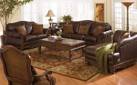 Milo Italia MI6844KIT4PCDKBR Franklin Living Room Sets