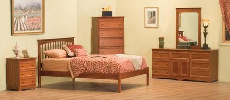 Atlantic Furniture BROOFNMFL Brooklyn Series  Bed