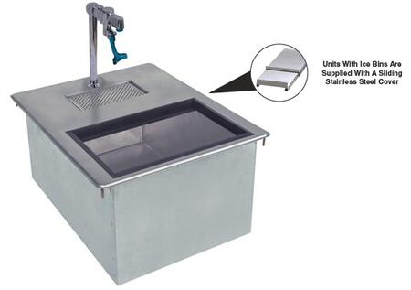 Advance Tabco D-24-WSIBL Drop-In Water Station with Ice Bin and Filler Faucet in Stainless Steel