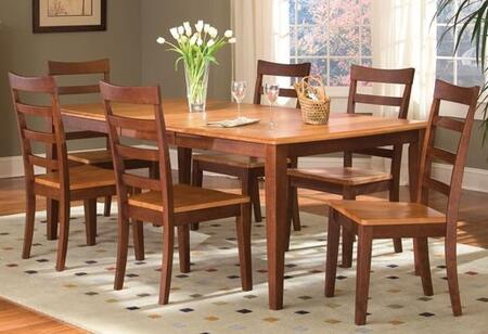 "AAmerica 6320 Bristol Point 42X60 Butterfly Leg Table with One 18"" Leaf, Wood on Wood Glides and 20% NC Top Coat in"